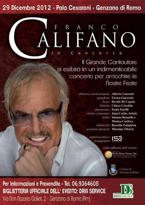 Concerto Musicale di Franco Califano - Genzano di Roma
