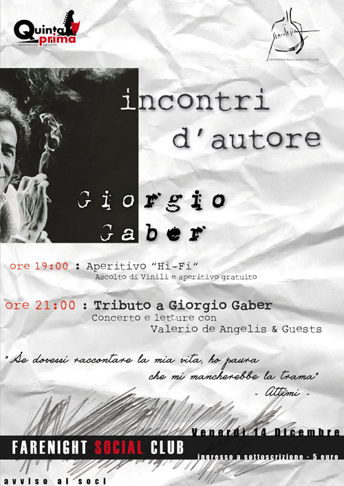 Incontri D'autore: Giorgio Gaber