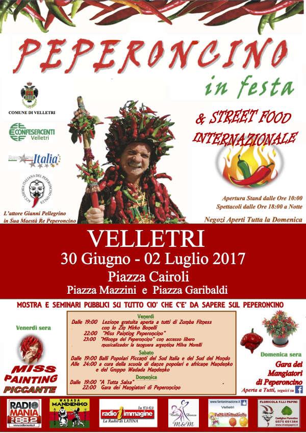 Peperoncino in Festa e street food internazionale piccante  a Velletri