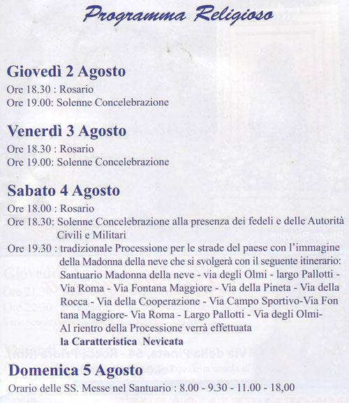 Festa Madonna della Neve - Rocca Priora